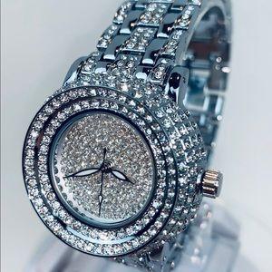 Jewelry - Beautiful Diamond Crystal Quartz Watch 34mm